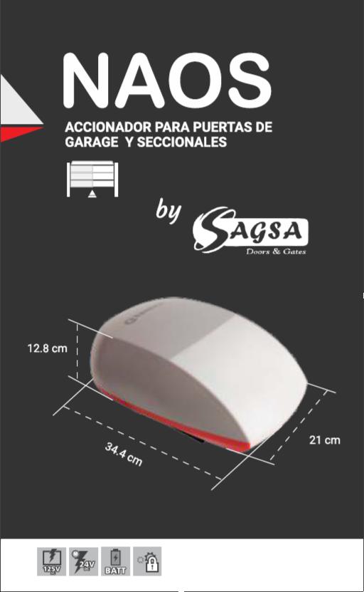 Especificaciones del Abre Puertas Automáticas NAOS ERREKA by SAGSA Doors and Gates