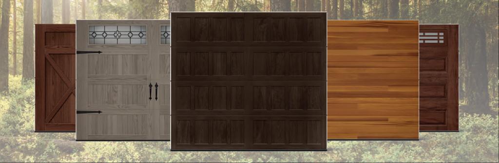 Modelos de Puertas de Garaje Residencial C.H.I. Accents WoodTones by SAGSA Doors and Gates